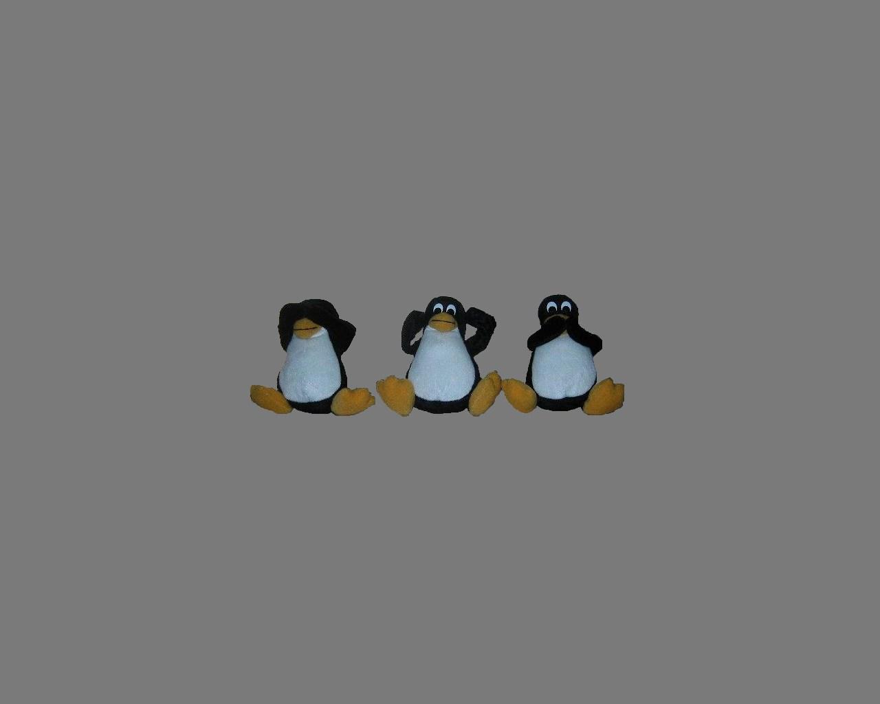 見ペンギン/聞ペンギン/言ペンギン。